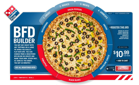 Domino's Pizza Builder