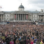 Trafalgar Square T-Mobile Karaoke Flash Mob