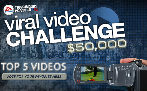 The Tiger Woods PGA Tour 10 Viral Video Challenge Contest is currently down ...