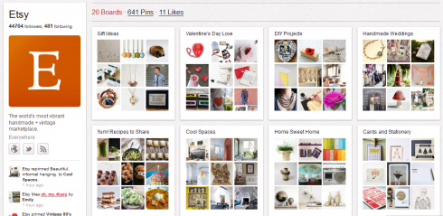 etsy e1328233319724 The Next Social Wave Of 2012: Pinterest