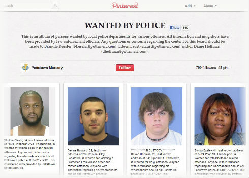 Pinterest Wanted by Police How Pinterest Can Help Fight Crime?