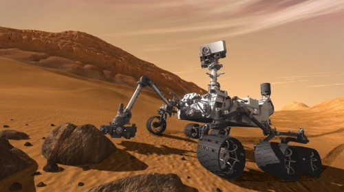 Meet the robotic mayor of Mars: NASA's Mars rover Curiosity has checked in.