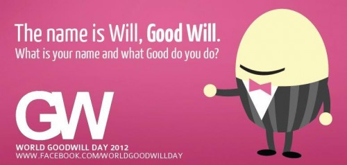 Do You Support 'World Goodwill Day' On 21 December 2012?