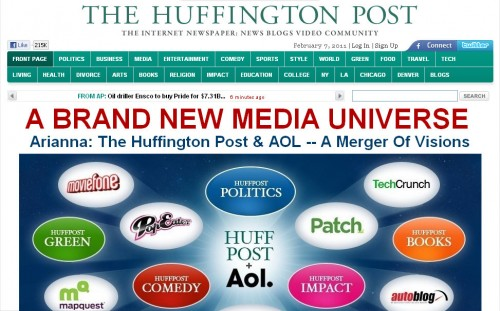 huffington post homepage 733f45afe70e2b31 500x311 BuzzFeed: The Start Of A New Publishing Era?