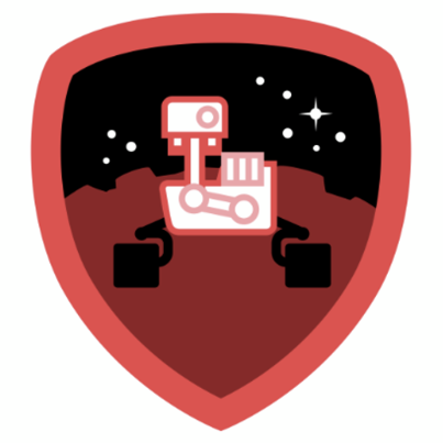 official Mars Mayor badge from NASA and Foursquare