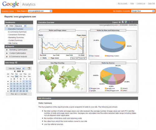 Use Google Analytics, ViralBlog.com