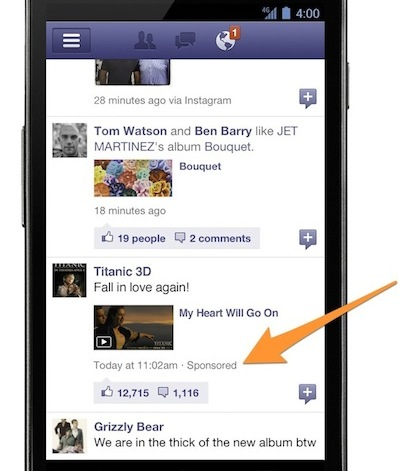 titanic mobile ad sponsored Why Facebook Desperately Wants You To Share Your Photos