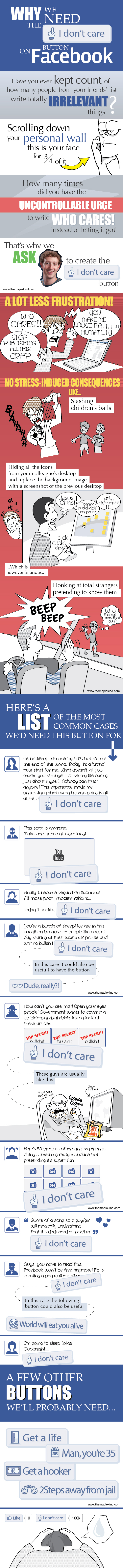 "Do We Need The ""I Don't Care"" Button On Facebook? (Infographic)"