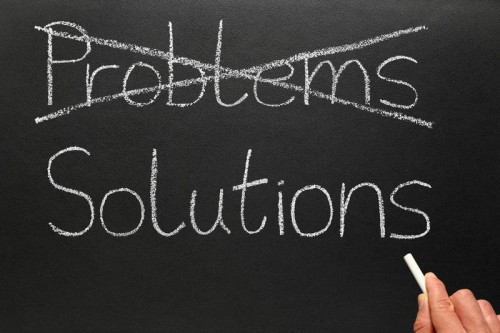 Crossing out problems and writing solutions