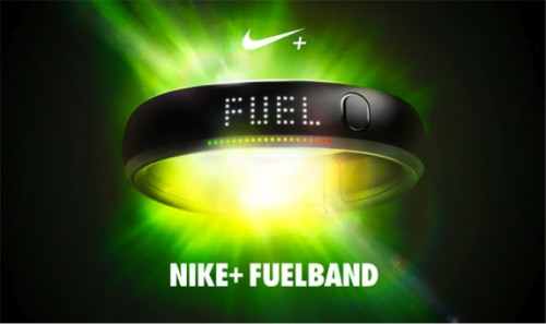 Fitness wristbands like Nike+ Fuelband