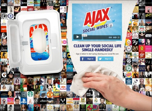 Ajax Social Wipes: Clean Up Your Social Life Single-Handedly - story by viralblog.com