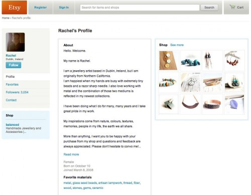 Smart Etsy profile - ViralBlog.com