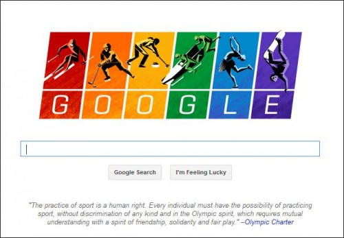 Google Gets Gold Medal For Gay Mindedness At Sochi Games - Igor Beuker for ViralBlog.com