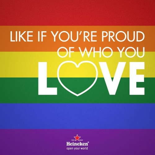 Like for Love: Heineken US Honors Gay Pride Month On Instagram. Discover it on ViralBlog.com