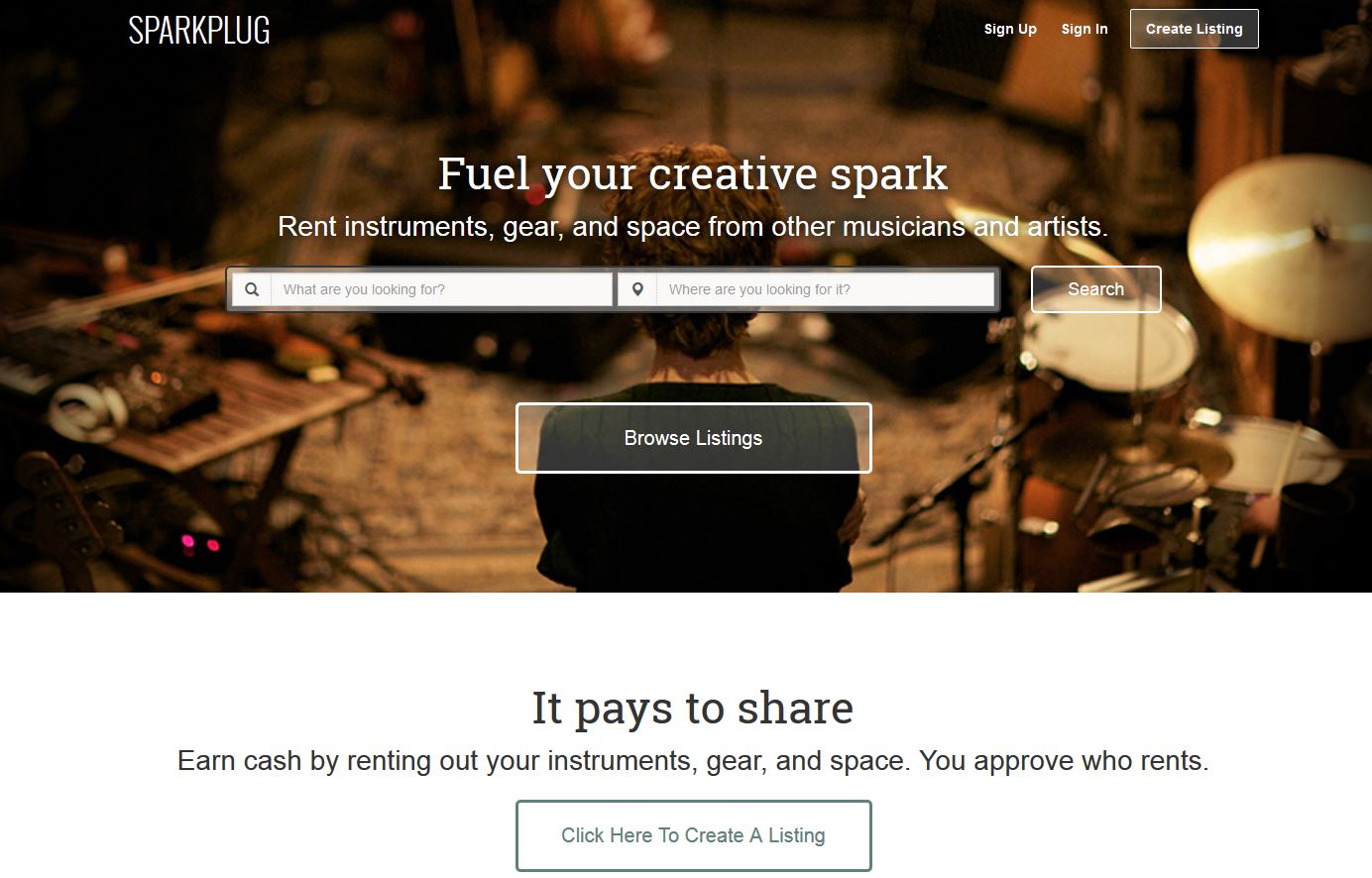 Sparkplug: Airbnb Clone That Helps Musicians Rent Out Gear